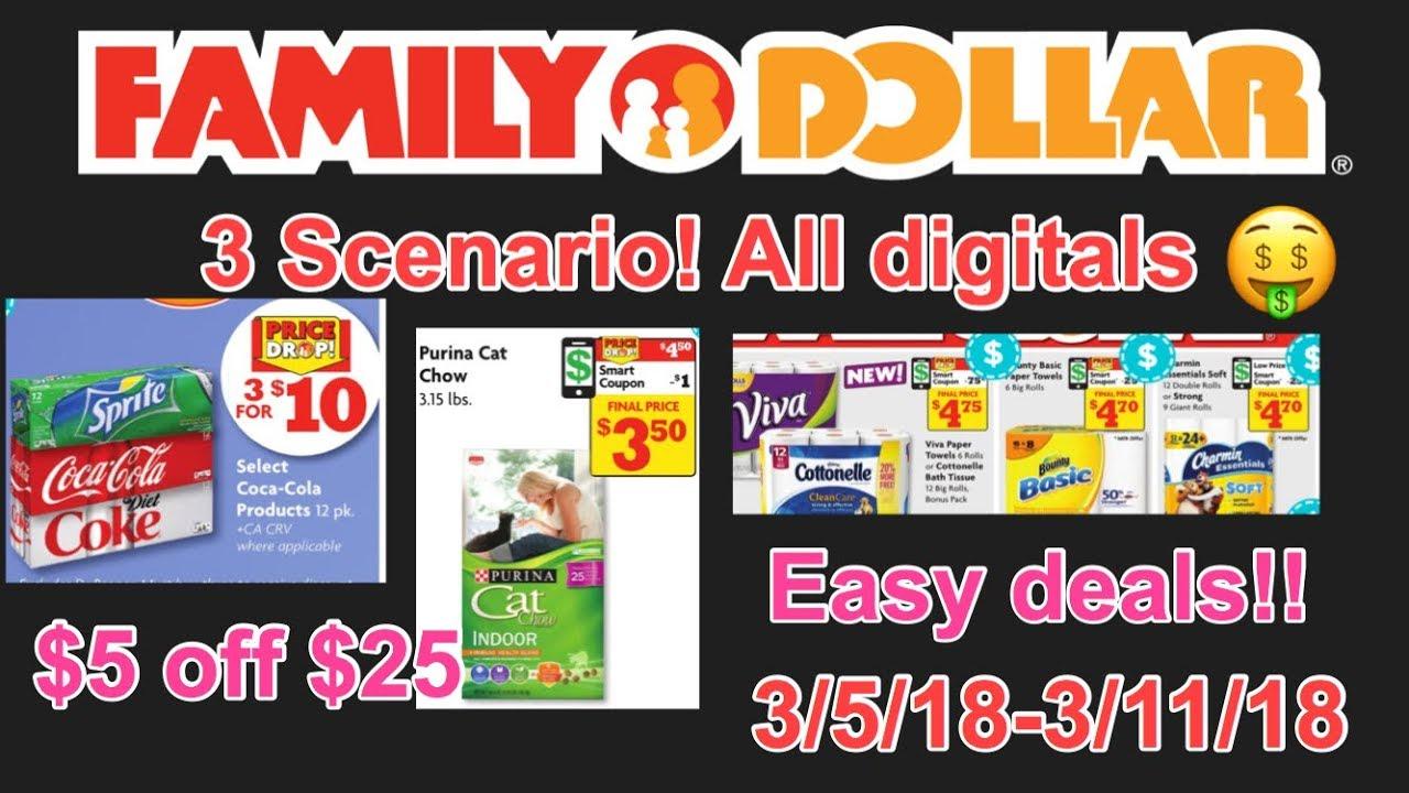 Family Dollar 3 Scenarios Using $5 Off $25 Digital! Cheap ...