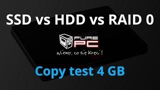 SSD vs HDD vs RAID 0 - Copy test 4 GB photos