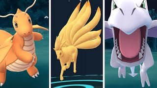 Pokemon Go CATCHING DRAGONITE NINETAILS AERODACTYL ALL SUPER RARE Pokemon!