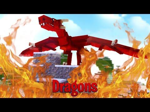 THE FIRE NATIONS SECRET DRAGON ATTACKS! - Minecraft Dragons