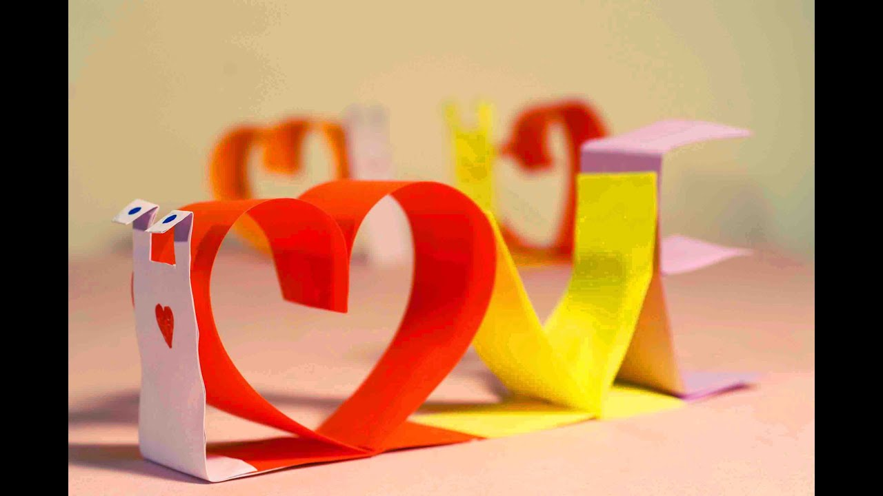 Paper crafts for kids valentines day crafts paper love snail easy paper crafts for kids valentines day crafts paper love snail easy crafts for kids youtube jeuxipadfo Images