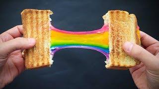 RainbowToast# איך מכינים טוסט קשת בענן צבעוני