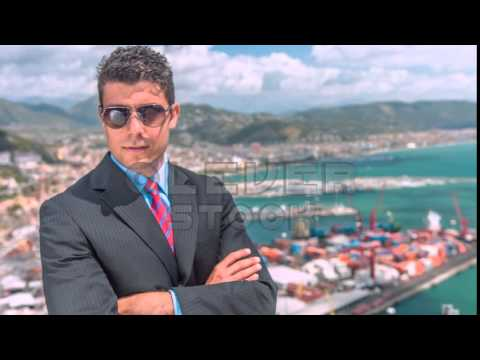 Handsome Young Successful Business Man Looking At Port Shipping Management Import Uhd 4K