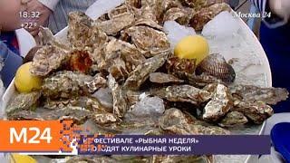 """На фестивале """"Рыбная неделя"""" проходят кулинарные уроки - Москва 24"""