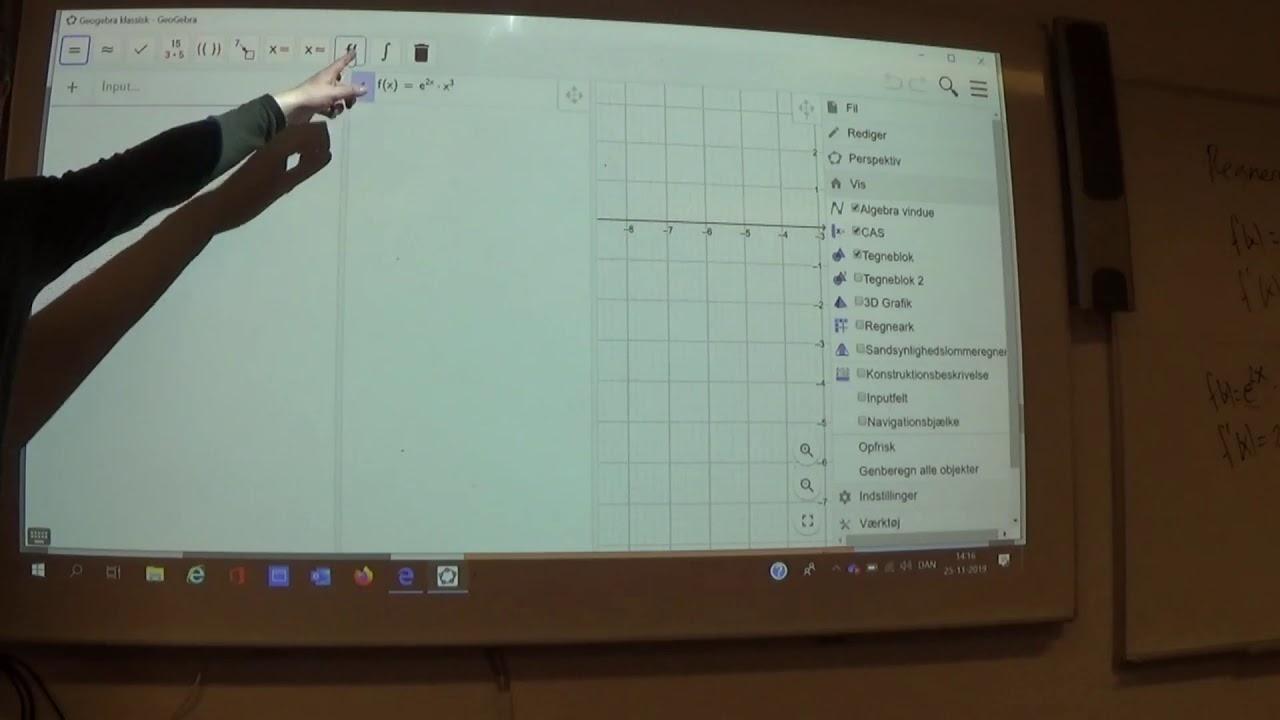 Mat B 6.3d Geogebra differentiere vha CAS