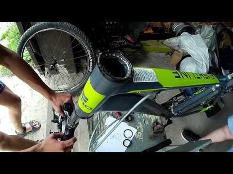 Замена подшипников в безрезьбовой рулевой колонке на велосипеде.
