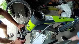 замена подшипников в безрезьбовой рулевой колонке на велосипеде