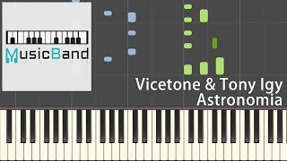 [琴譜簡易版] Vicetone & Tony Igy - Astronomia - Coffin Dance [黑人擡棺 電音神曲] - Piano Tutorial 鋼琴教學 Synthesia