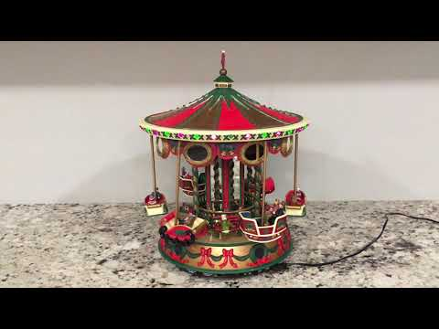 Mr. Christmas holiday fair collectibles musical carousel (Christmas carols)