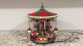 Mr. Christmas holiday fair collectibles musical carousel (Christmas carols) Video