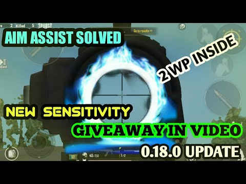[aim-assist]-problem-solved,-best-sensitivity-setting-for-0.18.0-update-||-giveaway-in-the-video