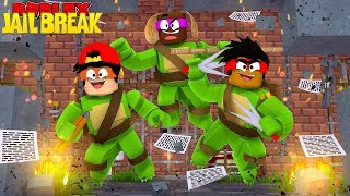 ROBLOX JAIL BREAK - TEENAGE MUTANT NINJA TURTLES BREAK OUT OF PRISON!!
