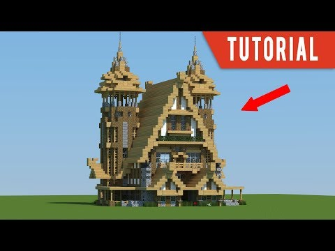 minecraft-tutorial:-how-to-build-a-mansion---medieval-house/blacksmiths/stables-tutorial-(2018)