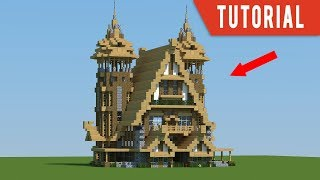 minecraft medieval mansion build tutorial stables