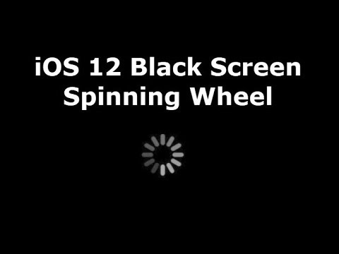 iOS 12 Black Screen Spinning Wheel (iPhone/iPad)