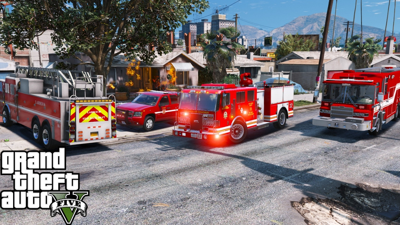 GTA 5 Play As A Firefighter Mod 44 | Fire & EMS Live Stream |  Engine,Ladder,Rescue,Ambulance & Chief