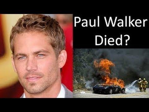 Did Paul Walker Died In A Car Crash