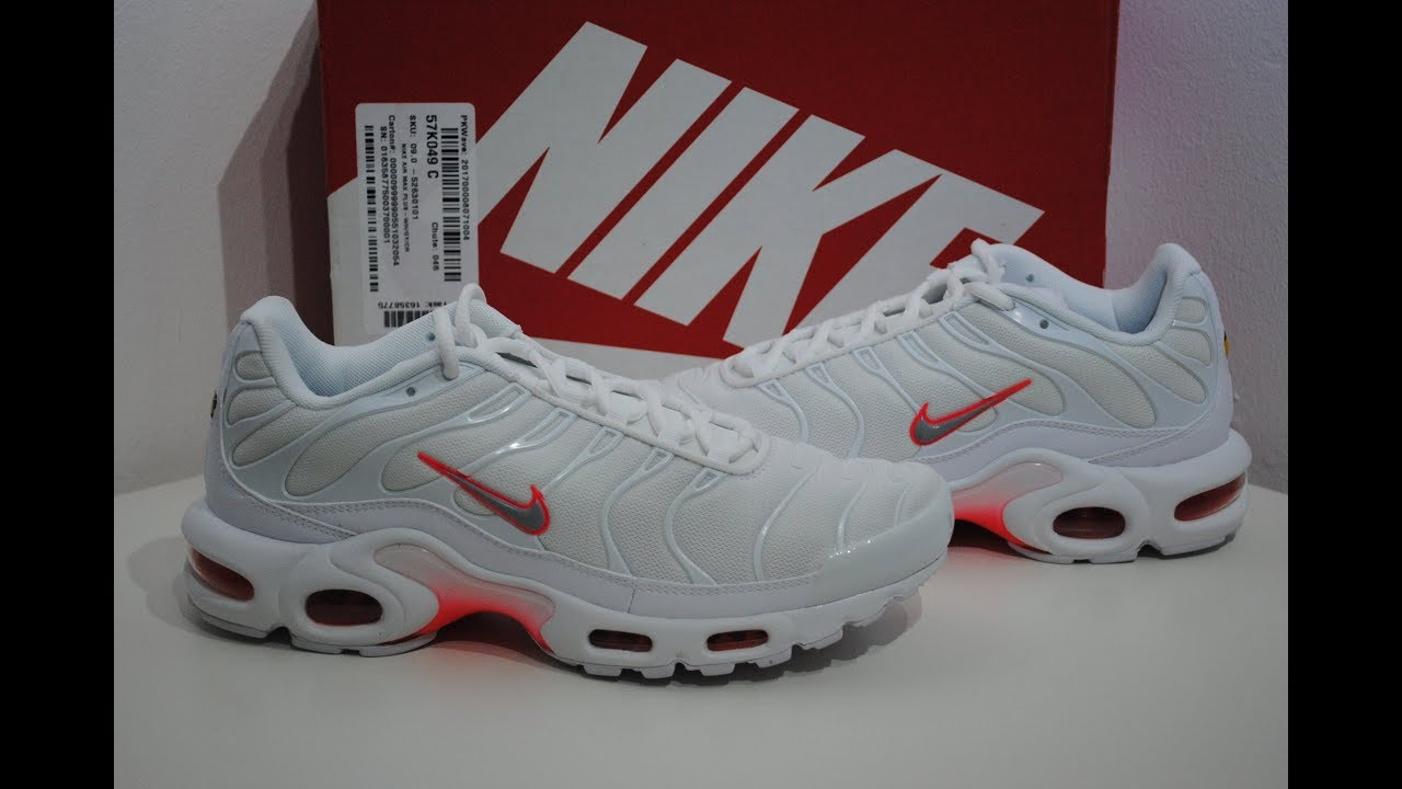 Nike Air Max Plus Tuned Tn White   Crimson Product Presentation By Crime  Clothing 700d1edf9