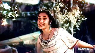 Aate Jaate Pehloo Mein Aya In Color (4K)   Yahoodi 1958, Meena kumari, Dilip Kumar, Lata Mangeshkar