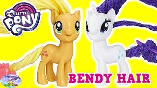 My Little Pony Twisty Twirly Hairstyles Rarity Applejack NEW MLP Surprise Egg and Toy Collector SETC