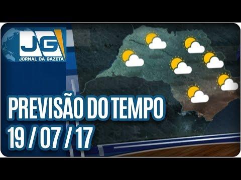 Previsão do Tempo - 19/07/2017