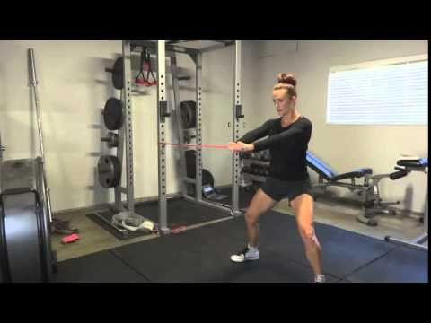 Get Glutes Demo: band anti rotation hold