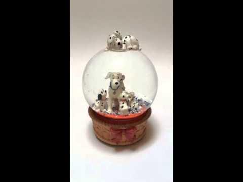 101 Dalmatians musical snow globe