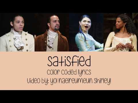 1-11. Satisfied (Hamilton) - Color Coded Lyrics