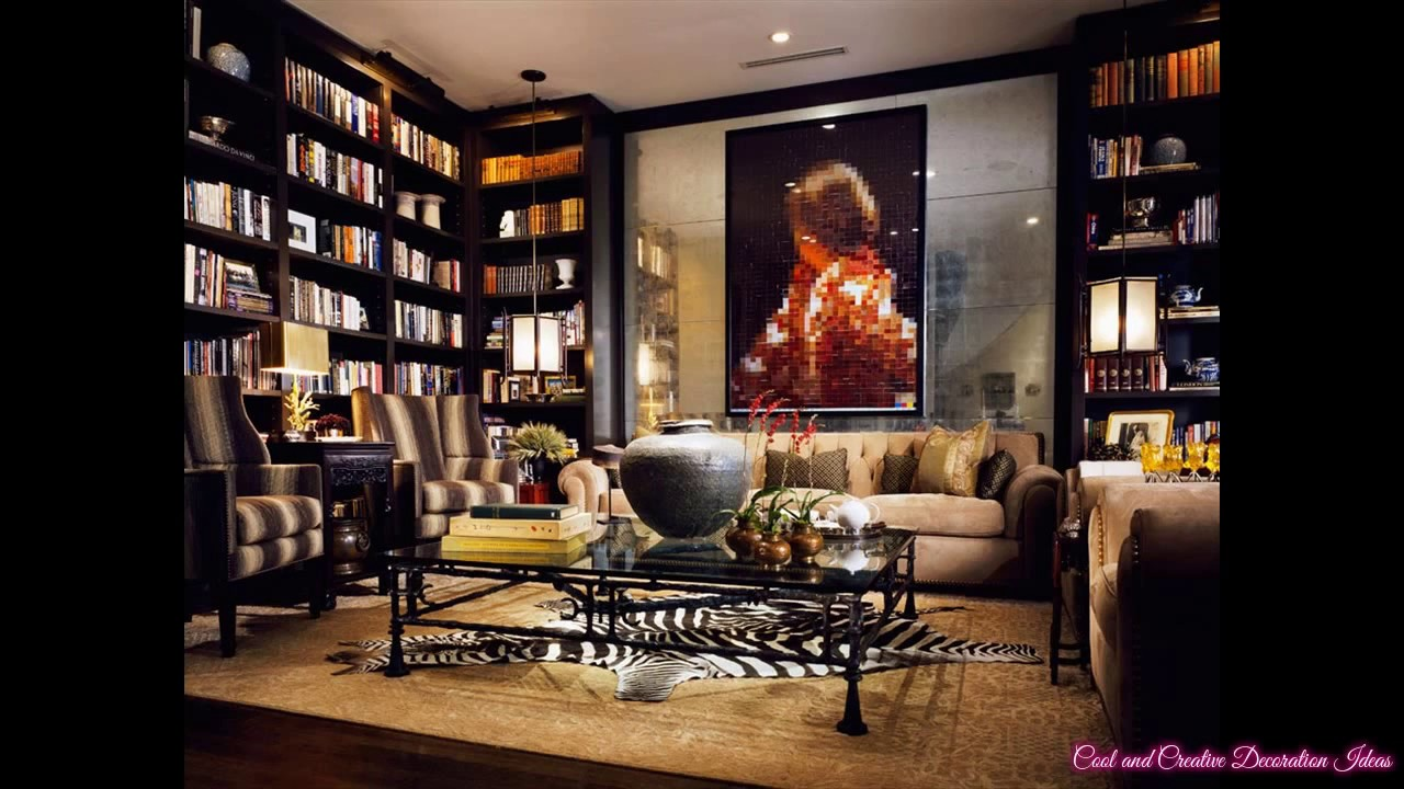 Library Room Ideas Luxury Home Library Room Decorating Ideas  Youtube