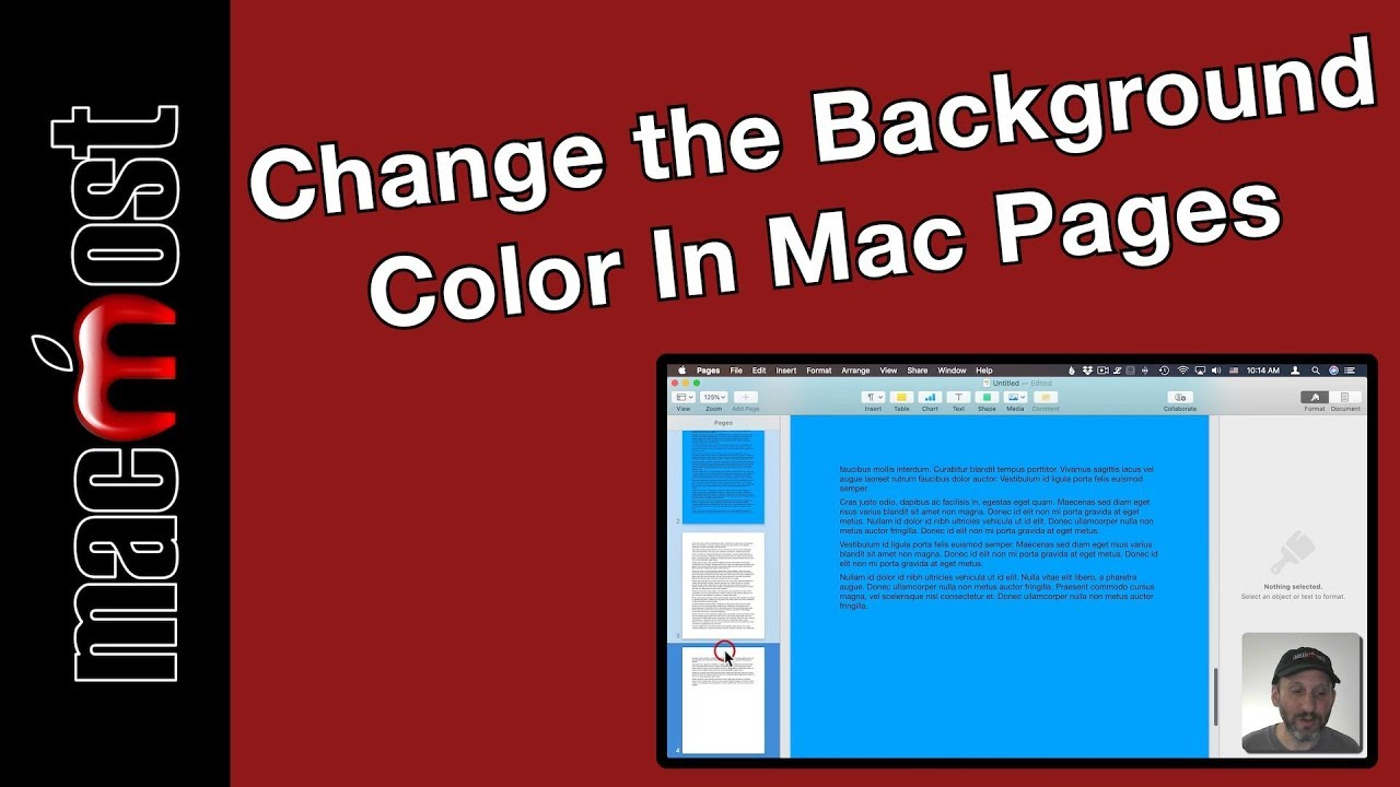 How To Change The Background Color In Mac Pages Macmost 1903