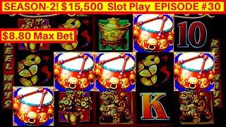 Dancing Drums Slot 5 BONUS SYMBOLS w/$8.80 MAX BET | GREAT SESSION | Season 2 EPISODE #30
