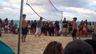 BSB Cruise 2011 Beach Party - Brian and Kevin's Volleyball Game pt 2