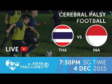 Cerebral Palsy football Thailand vs Indonesia (Day 1) | 8th ASEAN Para Games 2015