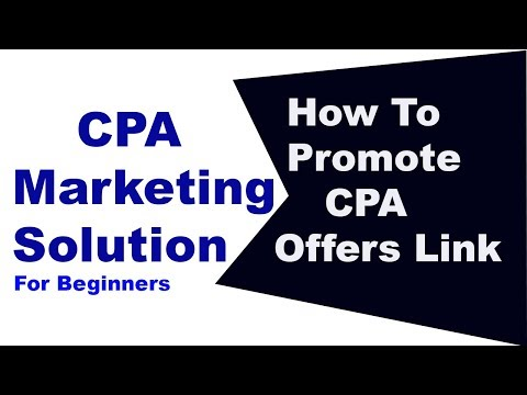 How to works    CPA Network easily
