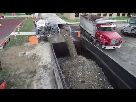 Parking Lot Asphalt Milling Footage | St. Gabriel Church | Cleveland, OH