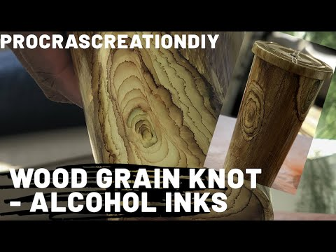 How to make a Wood Grain Knot with Alcohol Inks