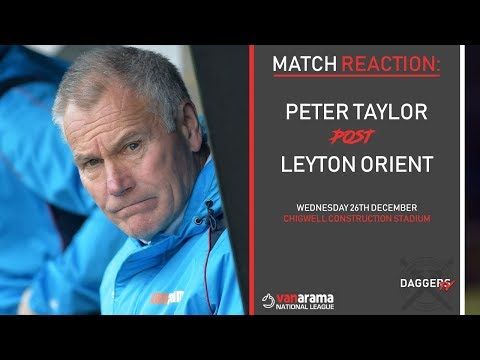 MATCH REACTION: Peter Taylor post Leyton Orient Victory
