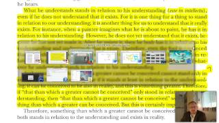 9.  Anselm's Ontological Argument Thumbnail
