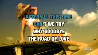 "Why Goodbye in the Style of ""Peabo Bryson"" with lyrics (no lead vocal)"