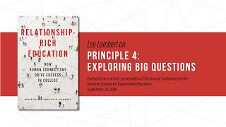 Principle 4: Exploring big questions