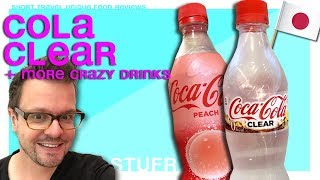 Drinking new Coca Cola Clear and Cow Piss - Japan travel guide