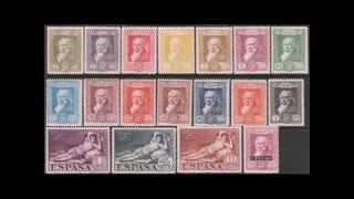 """«Мáхa обнажённая» на почтовых марках. """"La maja desnuda"""" on postage stamps"""