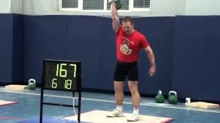 Morozov Igor Snatch 24 kg 272 reps 11.12.2015 - Морозов Игорь Рывок 24 кг 272 раза