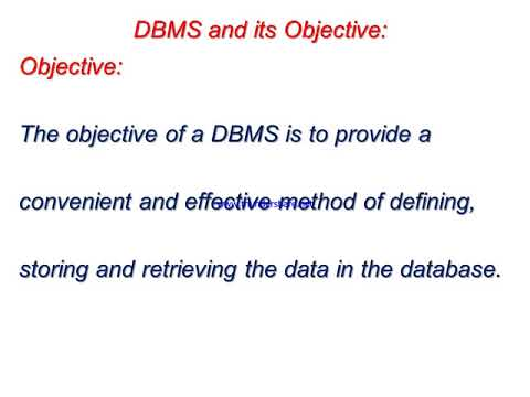 disadvantages of dbms What is DBMS ?