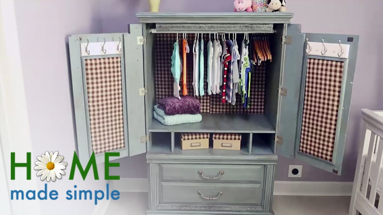 How To Turn An Old Tv Cabinet Into A Stunning Baby Armoire Home Made Simple Own You