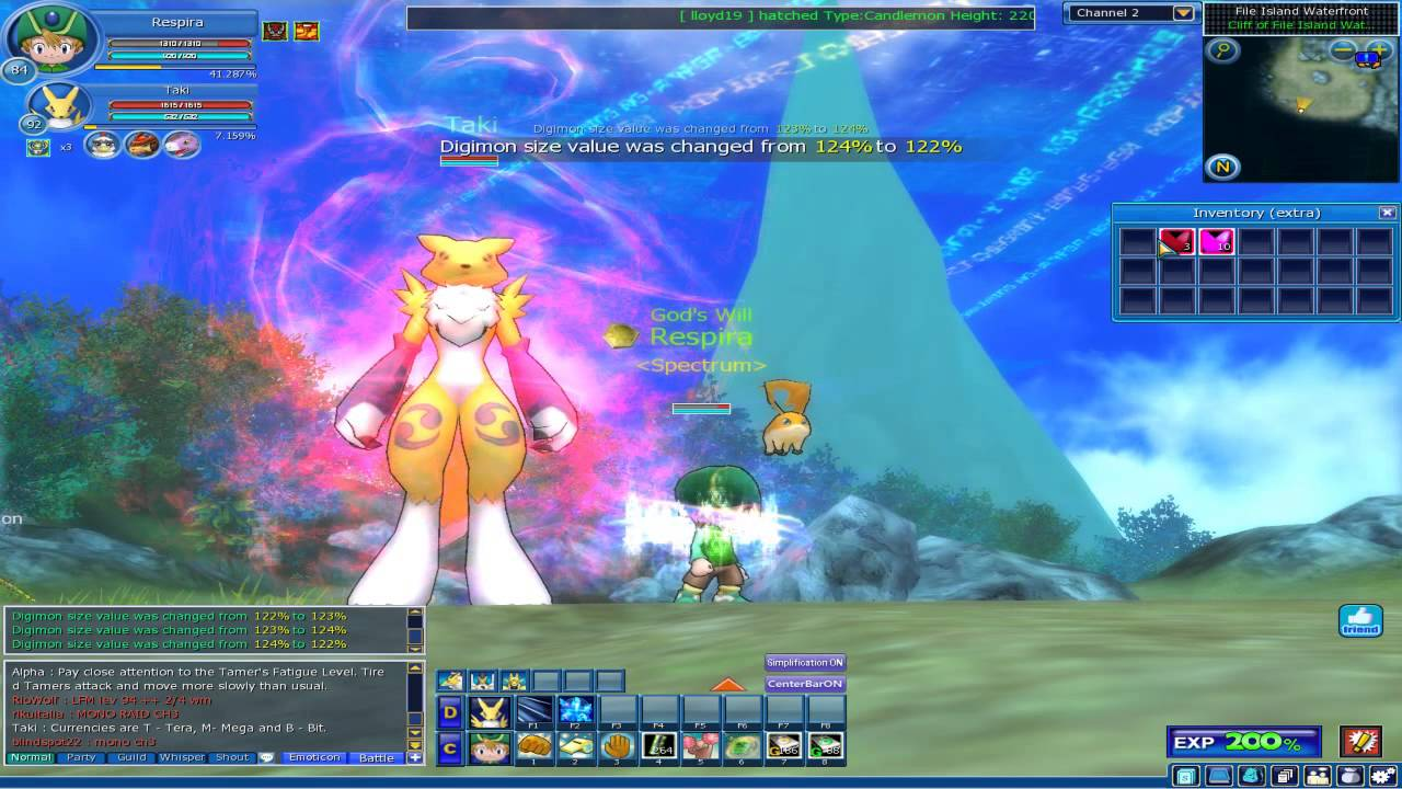 digimon masters online fruiting renamon to 127 youtube