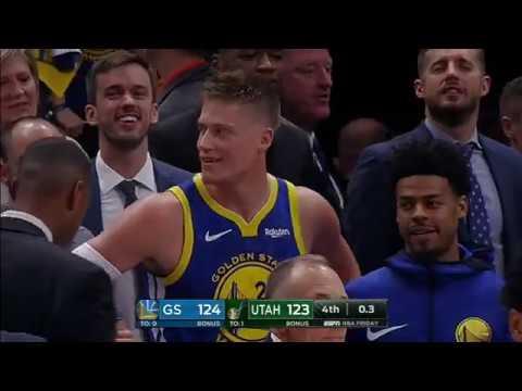 Jonas Jerebko Game winning Tip | Warriors vs Jazz | 2018 NBA Regular Season | October 19 2018