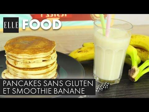 recette-:-pancakes-sans-gluten-et-smoothie-banane-(avec-l'atelier-de-roxane)┃elle-cuisine