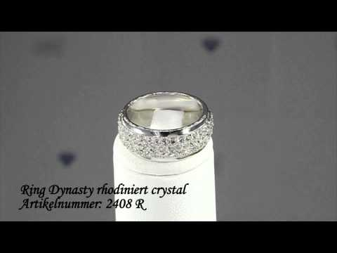 Olive Weber Ring Dynasty rhodiniert crystal mit Swarovski Elements
