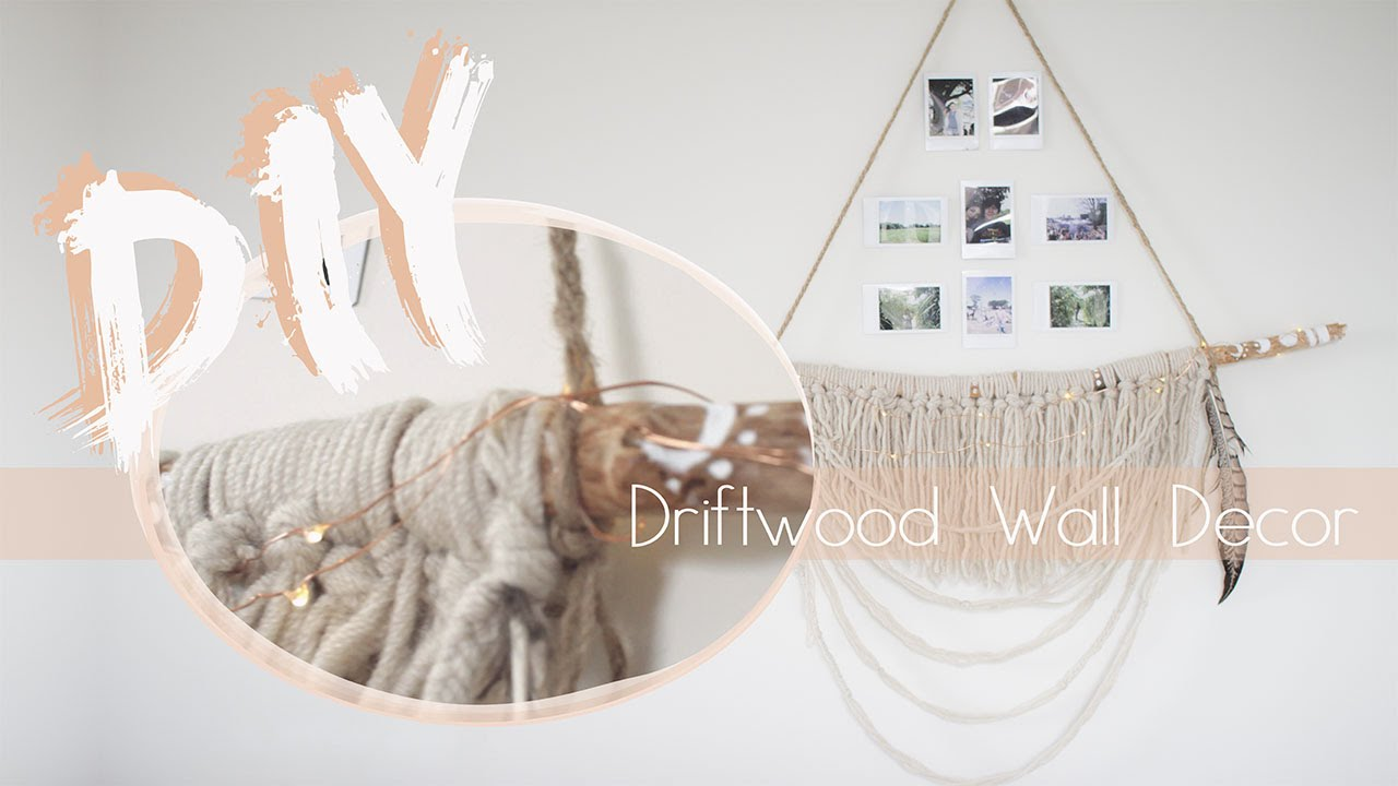 DIY Boho Driftwood Wall Decor | SlipsAndStones   YouTube